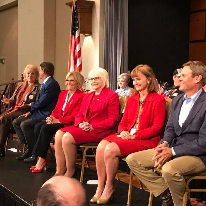 A few members of the Roane County Republican Women on stage.